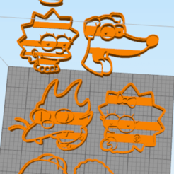 Impresiones 3D gratis Simpsons Cookie Cutter, NelsonRB