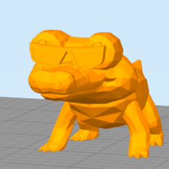 cr.png Download STL file Cool Crocodile (Not Sandile w sunglass) • 3D printing model, NelsonRB