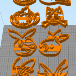 Download 3D model Fire starters cookie cutters, NelsonRB
