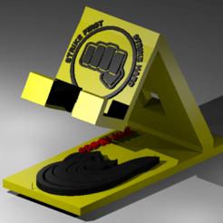 2.png Télécharger fichier STL Soutien au Cobra Kai • Plan pour imprimante 3D, NelsonRB