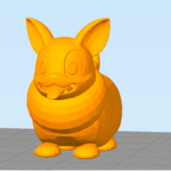 cr.png Download STL file Cute Dog (Not Yamper) • 3D printing design, NelsonRB