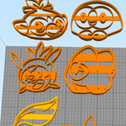 Download 3D printer files All starters cookie cutters +7 extra pocket monsters, NelsonRB