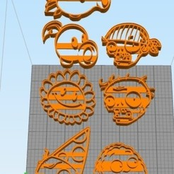 wa.jpg Download free STL file PvZ Cookie Cutters • 3D print model, NelsonRB