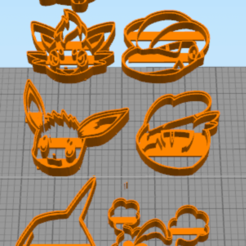 2.png Download STL file 7 Cookie Cutter Pocket Monster Pack 2 • 3D printer template, NelsonRB