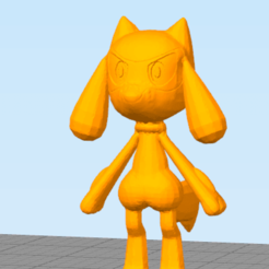 rio.png Download free STL file Little Dog Fighter (Not Riolu) • Template to 3D print, NelsonRB