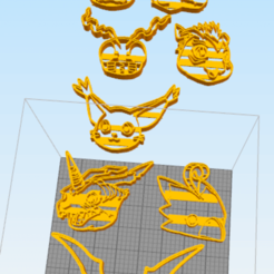 Download 3D print files Digital Monsters Cookie Cutter, NelsonRB