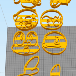 Download 3D printing templates Water starters cookie cutter, NelsonRB