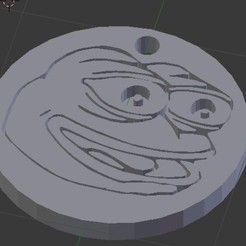 Sin título.jpg Download free STL file Pepe FeelsGood Keychain • 3D printable object, NelsonRB