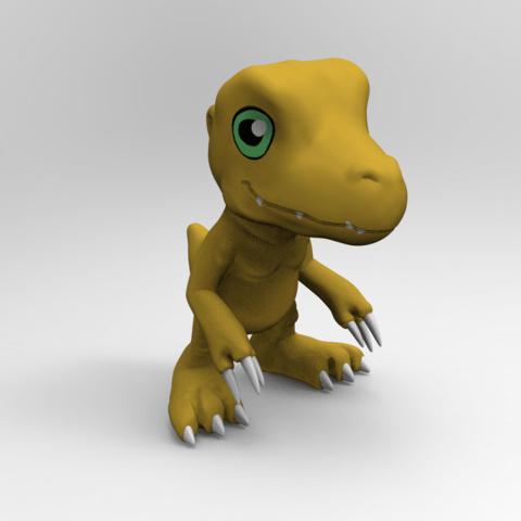Download free 3D printing designs Agumon, NelsonRB