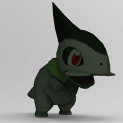 kibago.png Télécharger fichier STL Le petit monstre dinosaure (pas Axew) • Modèle à imprimer en 3D, NelsonRB