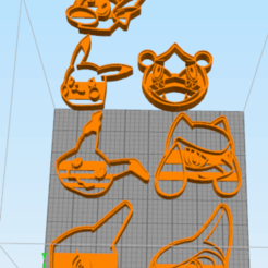 Download 3D printer templates 7 Cookie Cutter Pocket Monster Pack, NelsonRB