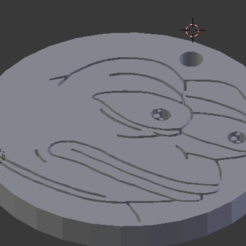 Download free 3D printer designs Pepe MonkaS Keychain, NelsonRB
