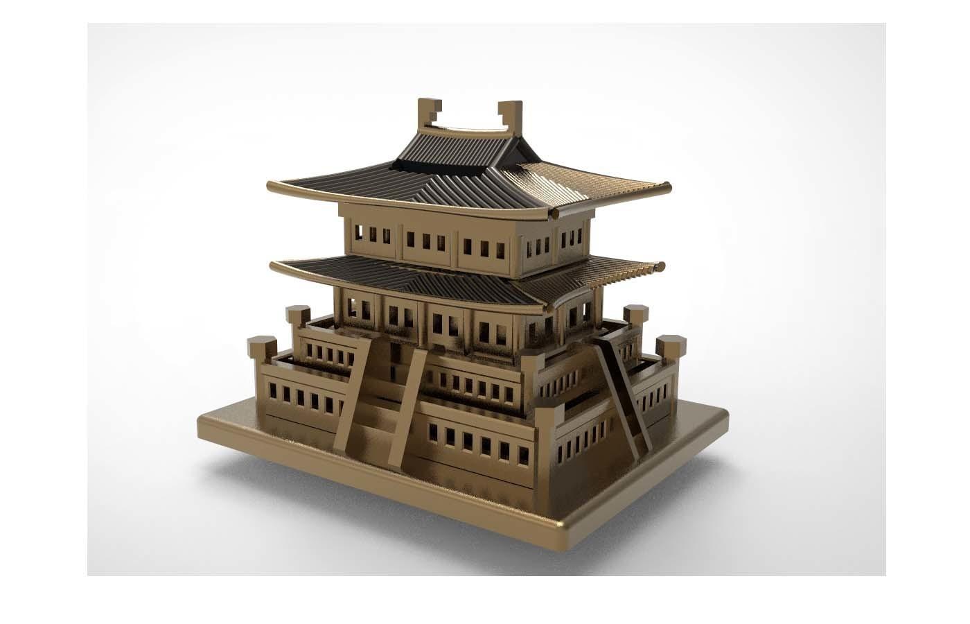 Korean Traditional Architecture Coin Bank ran1.jpg Télécharger fichier STL gratuit Banque Coréenne d'Architecture Traditionnelle de Pièces de monnaie • Design imprimable en 3D, hyojung0320
