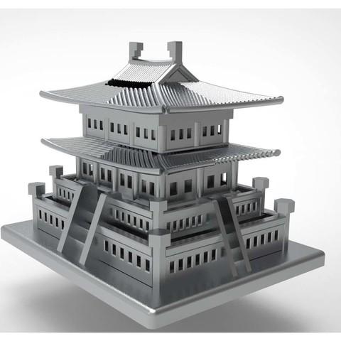 Korean Traditional Architecture Coin Bank ran4.jpg Télécharger fichier STL gratuit Banque Coréenne d'Architecture Traditionnelle de Pièces de monnaie • Design imprimable en 3D, hyojung0320