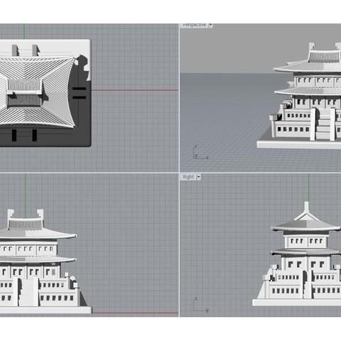 Korean Traditional Architecture Coin Bank jpg5.jpg Télécharger fichier STL gratuit Banque Coréenne d'Architecture Traditionnelle de Pièces de monnaie • Design imprimable en 3D, hyojung0320