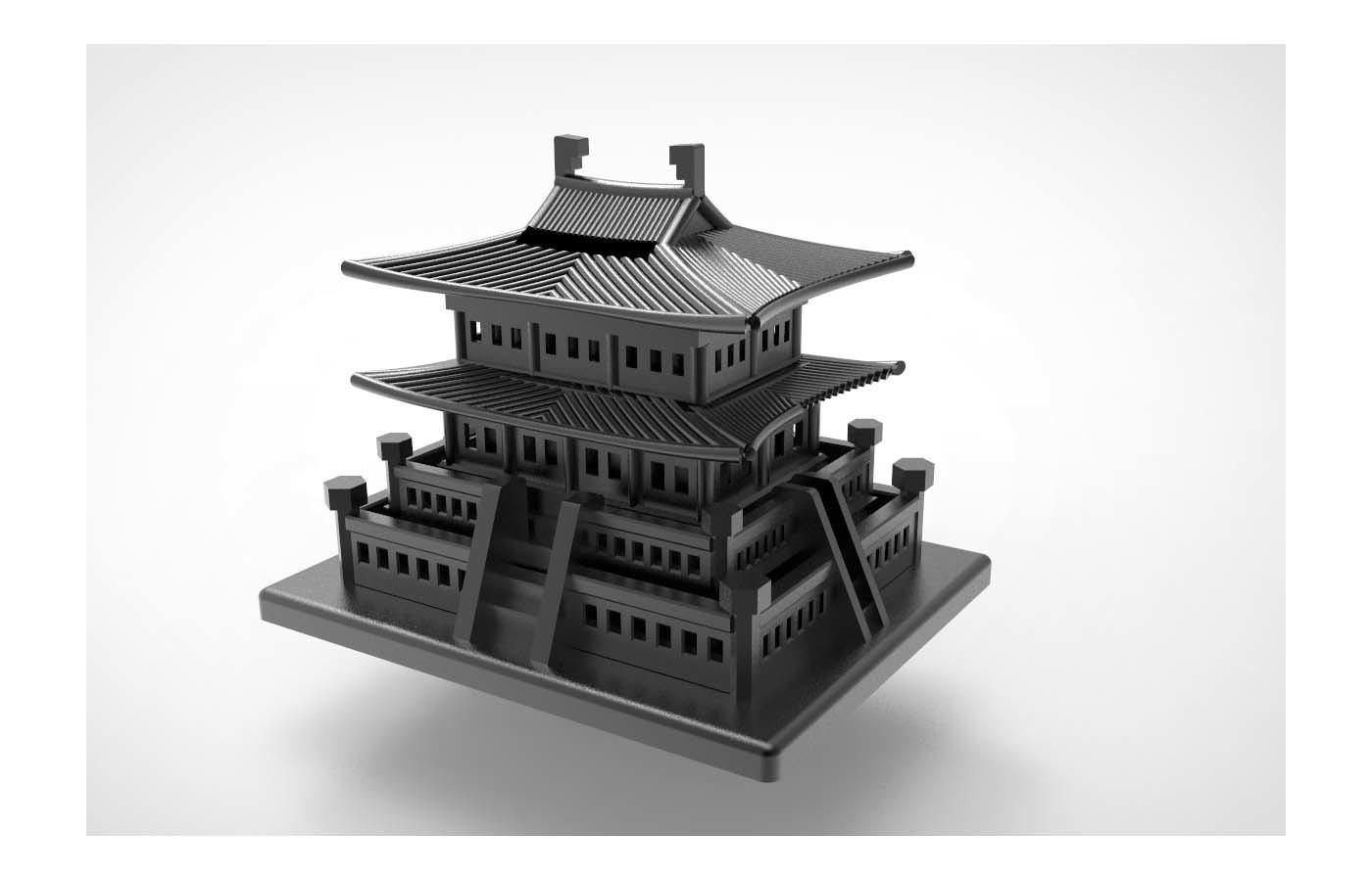 Korean Traditional Architecture Coin Bank ran6.jpg Télécharger fichier STL gratuit Banque Coréenne d'Architecture Traditionnelle de Pièces de monnaie • Design imprimable en 3D, hyojung0320