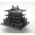 Download free STL Korean Traditional Architecture Coin Bank, hyojung0320