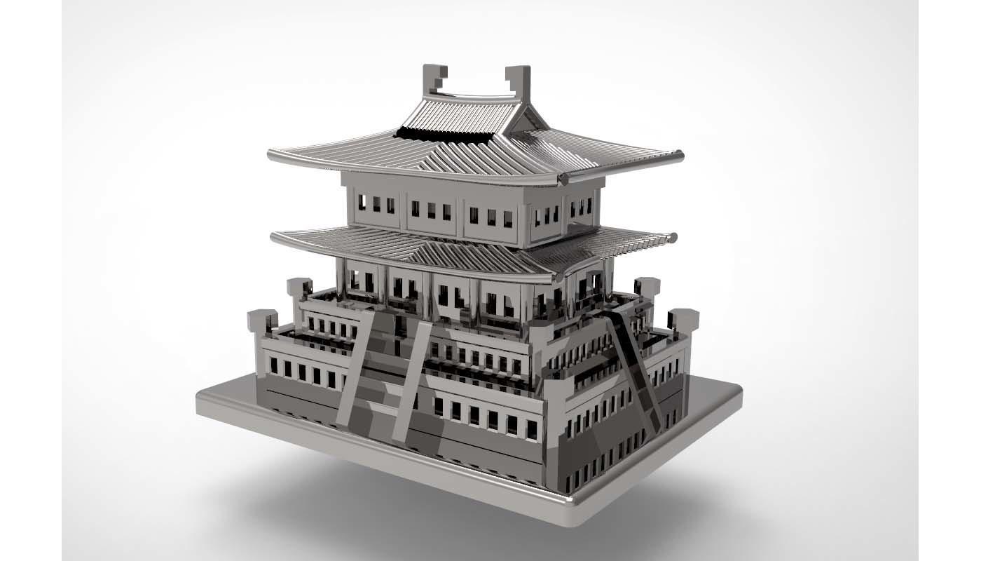 Korean Traditional Architecture Coin Bank ran2.jpg Télécharger fichier STL gratuit Banque Coréenne d'Architecture Traditionnelle de Pièces de monnaie • Design imprimable en 3D, hyojung0320