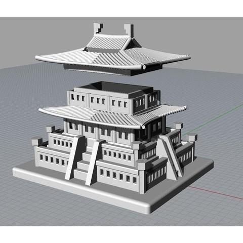 Korean Traditional Architecture Coin Bank jpg6.jpg Télécharger fichier STL gratuit Banque Coréenne d'Architecture Traditionnelle de Pièces de monnaie • Design imprimable en 3D, hyojung0320