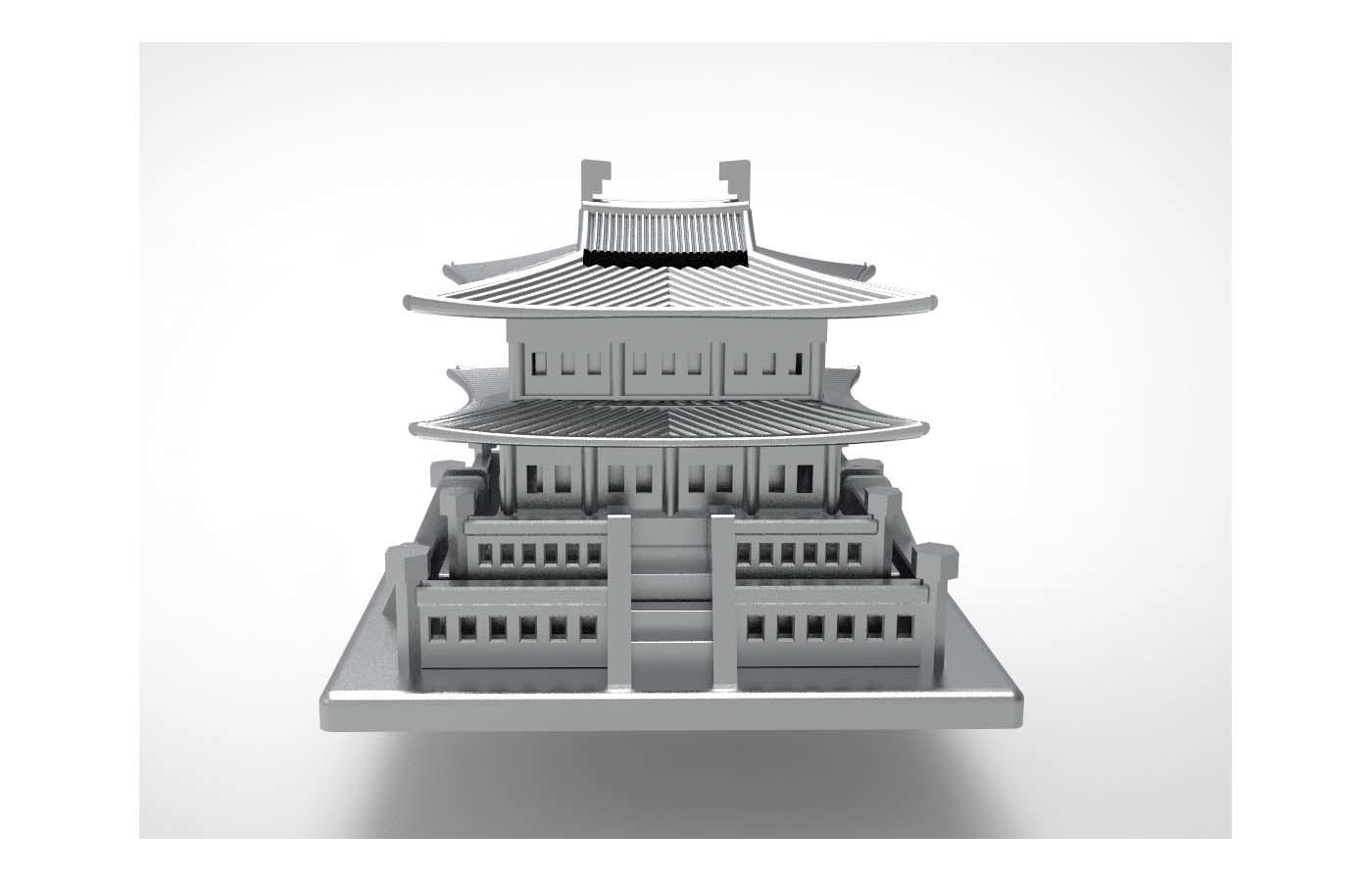 Korean Traditional Architecture Coin Bank ran3.jpg Télécharger fichier STL gratuit Banque Coréenne d'Architecture Traditionnelle de Pièces de monnaie • Design imprimable en 3D, hyojung0320