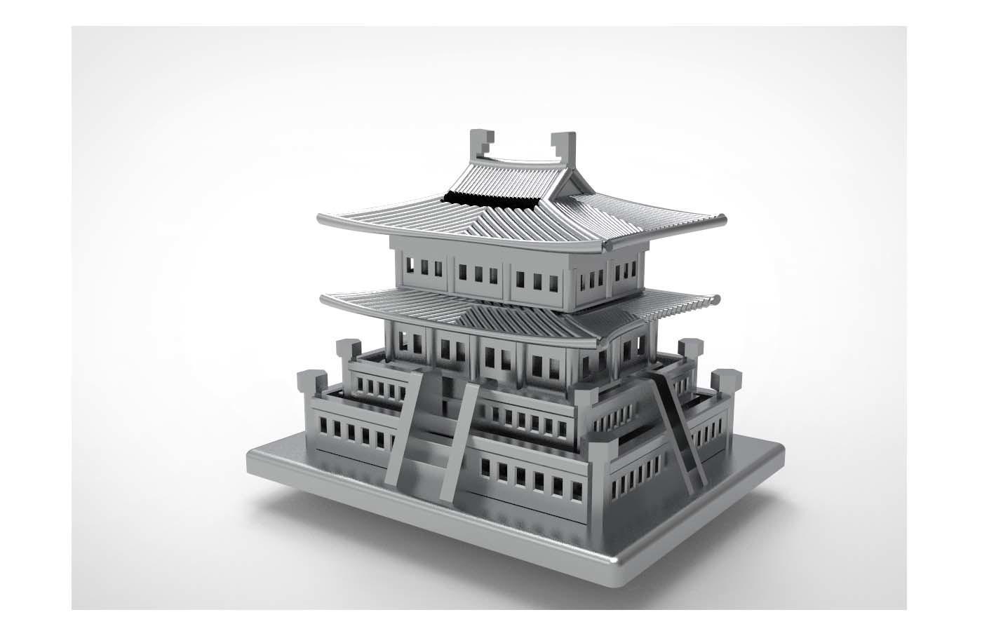 Korean Traditional Architecture Coin Bank ran main.jpg Télécharger fichier STL gratuit Banque Coréenne d'Architecture Traditionnelle de Pièces de monnaie • Design imprimable en 3D, hyojung0320