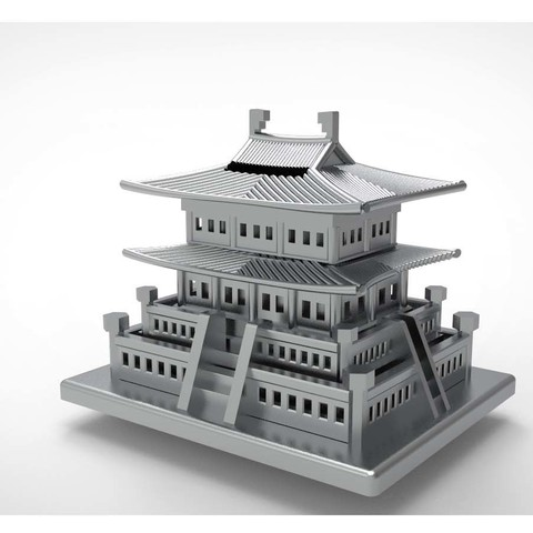 Free STL files Korean Traditional Architecture Coin Bank, hyojung0320