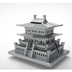 Download free STL file Korean Traditional Architecture Coin Bank • 3D printing design, hyojung0320