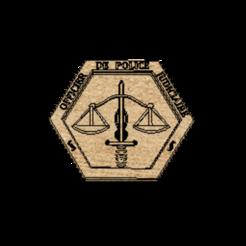 Ecusson v2.png Download free STL file Gendarmerie OPJ crest • 3D print design, NIBIRU