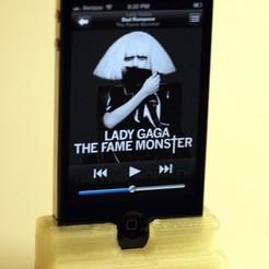 Free stl file iPhone holder with speaker cone, Germanillicoldo