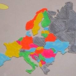 Europe_puzzle_3dprinted_display_large_display_large.jpg Télécharger fichier STL gratuit Carte de l'Europe puzzle • Design pour imprimante 3D, gabutoillegna56