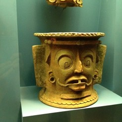 Free 3D printer model Grotesque Mayan Urn, gabutoillegna56