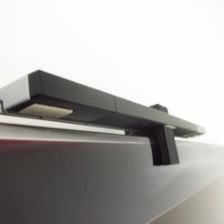 Download free STL TV Top Wii Sensor Bar Holder, gabutoillegna56