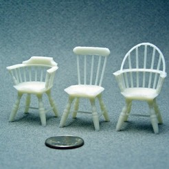 Free STL Three 1:24 Windsor Chairs, gabutoillegna56