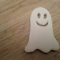 Download free 3D printer designs Halloween Ghost Fridge Magnet, Louisdelgado678