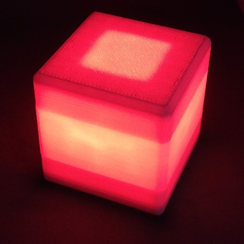 Free 3D printer model Lampada cubo Cube lamp, belemishub