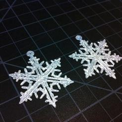 SnowflakeEarring1_Large_display_large_display_large.jpg Download free STL file p Earring #6 Snowflake • 3D printing design, HelibertoFranco