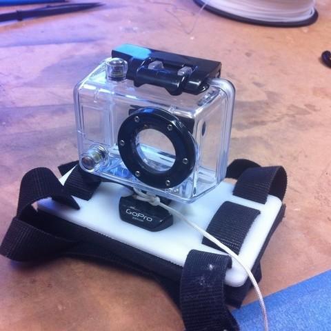 Download free 3D printer templates GoPro Hero Camera Mount, HelibertoFranco