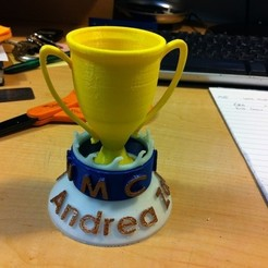 Free 3d printer designs Fancy Trophy, HelibertoFranco