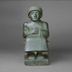 Free STL Statue of Gudea, metmuseum