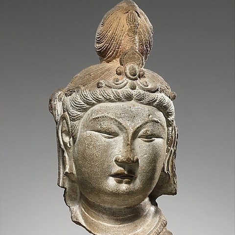 Download free STL files Head of a Bodhisattva, metmuseum