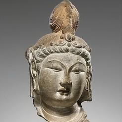 Free STL Head of a Bodhisattva, metmuseum