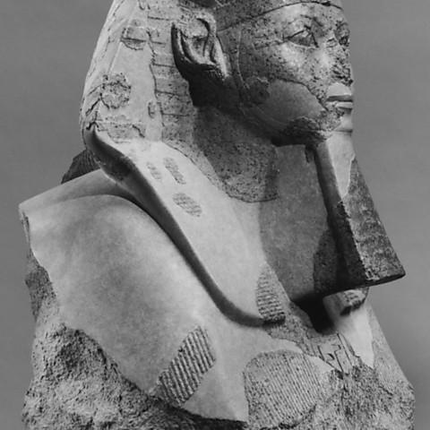 266796_display_large_display_large.jpg Download free STL file Head and Shoulders of a Sphinx of Hatshepsut • 3D printer object, metmuseum