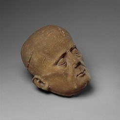 Download free 3D printer templates Head of a Cleric from a Tomb Effigy, metmuseum