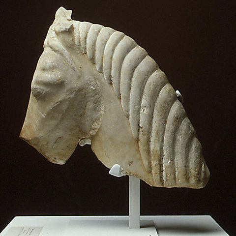 Download free 3D print files Marble head of a horse, metmuseum