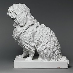 Download free 3D printer designs Musette, a Maltese dog, metmuseum