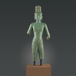 Free 3D printer files Standing Four-Armed Avalokiteshvara, the Bodhisattva of Infinite Compassion, metmuseum