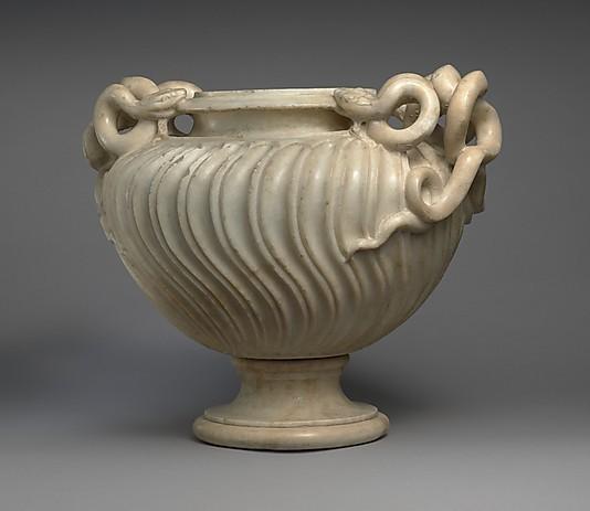 DP146528_display_large.jpg Download free OBJ file Marble strigilated vase with snake handle • 3D print model, metmuseum