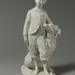 Download free STL files The Prince Imperial with his Dog Nero, metmuseum