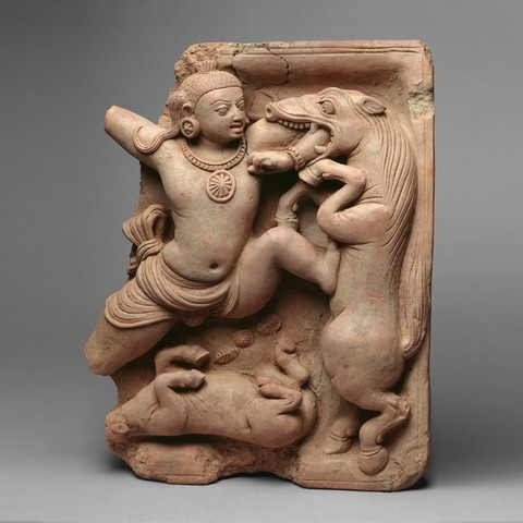 Download free 3D printer templates Krishna Killing the Horse Demon Keshi, metmuseum