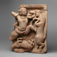 Download free 3D printer templates Krishna Killing the Horse Demon Keshi, metmuseum